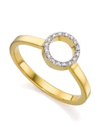 Monica Vinader | Metallic Diva Mini Circle Open Diamond Ring | Lyst