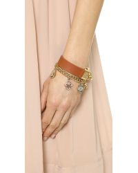 Juicy Couture - Metallic Pre Assembled Gypset Charm Bracelet Gold - Lyst
