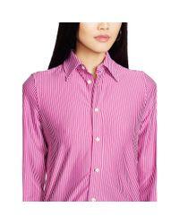 Polo Ralph Lauren - Pink Interlock Knit Oxford Shirt - Lyst