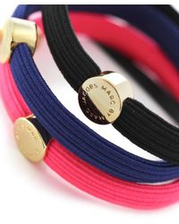 Marc By Marc Jacobs | Pink Disc-o Logo Pony Hair Ties | Lyst