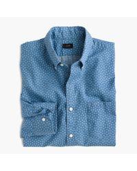 J.Crew | Blue Slim Secret Wash Shirt In Star Print for Men | Lyst