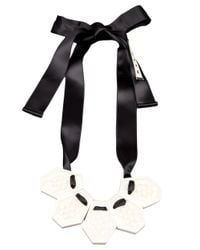 Marni - Metallic Ribbon Necklace - Lyst