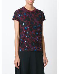 KENZO - Blue 'shadow Flowers' T-shirt - Lyst