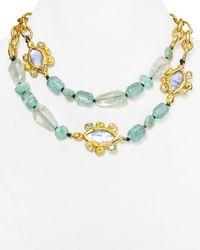 "Alexis Bittar - Green Elements Custom Link Multi Strand Necklace, 18"" - Lyst"