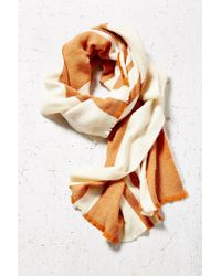 BDG | Brown Vertical Stripe Oversized Blanket Scarf | Lyst