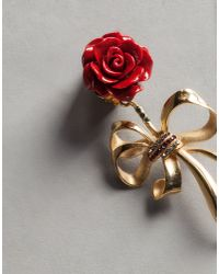 Dolce & Gabbana - Red Rose Earrings - Lyst