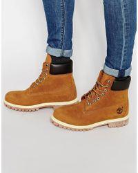 timberland classic premium boots brown