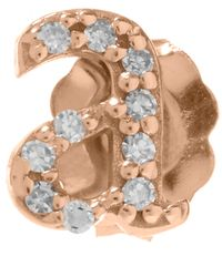 KC Designs - Pink Rose Gold Diamond A Single Stud Earring - Lyst