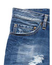DSquared² - Blue Grommet Patch Pocket Distressed Jeans for Men - Lyst