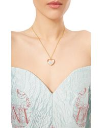 "Renee Lewis - 18K Gold White Diamonds Heart ""Shake"" Necklace - Lyst"