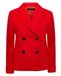 Jaeger | Red Wool Classic Pea Coat | Lyst