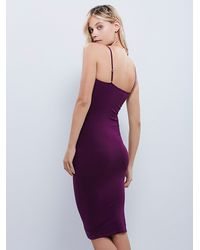 Free People | Purple Tea Length Seamless Slip | Lyst
