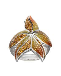 Lord & Taylor | Metallic Citrine And Enamel Ring | Lyst