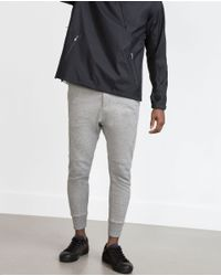 Zara | Gray Trousers With Zips for Men | Lyst