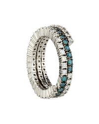 Roberto Coin | Irradiated Blue Diamond Band | Lyst