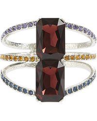 Oscar de la Renta | Purple Silver-tone Crystal Bracelet | Lyst