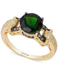 Le Vian | Green Chrome Diopside (1-9/10 Ct. T.W.) And Diamond (1/3 Ct. T.W.) Ring In 14K Gold | Lyst