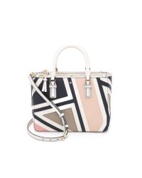 Tory Burch | Natural Robinson Fret Patchwork Tote - New Ivory Multi | Lyst