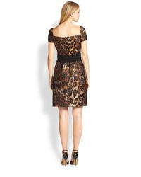 ESCADA - Multicolor Leopard Jacquard Dress - Lyst