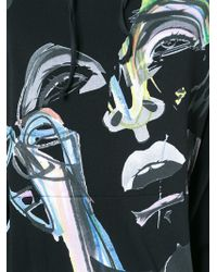 James Long - Black Painterly Portrait Sweatshirt for Men - Lyst
