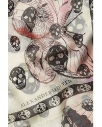 Alexander McQueen - Natural Printed Scarf With Silk - Multicolor - Lyst