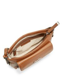 Calvin Klein | Brown Pebbled Leather Crossbody Bag | Lyst