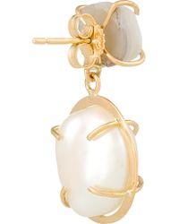 Melissa Joy Manning - Metallic 14-karat Gold, Pearl And Druzy Earrings - Lyst