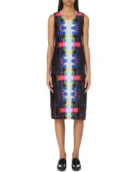 Pleats Please Issey Miyake | Pink Migrant Abstract-print Pleated Dress | Lyst