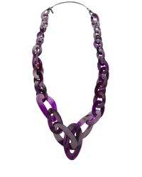 Monies | Purple Chain Link Necklace | Lyst