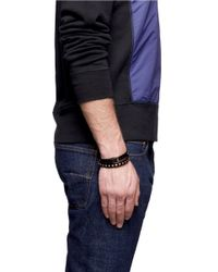 Valentino - Metallic Rockstud Double Wrap Leather Bracelet for Men - Lyst
