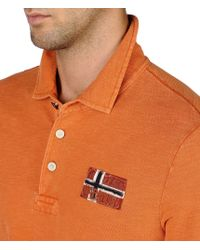 Napapijri | Orange Polo Shirt for Men | Lyst