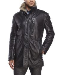 Marc New York | Black Stuyvesant Leather Jacket for Men | Lyst