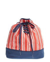 Keds - Blue 'festival' Print Backpack - Lyst