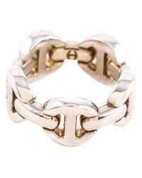 Hoorsenbuhs | White 'tri-link' Ring | Lyst