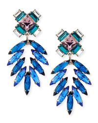 DANNIJO | Metallic Simon Crystal Drop Earrings | Lyst