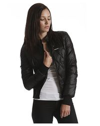 Members Only - Black Faux Down Bomber - Lyst