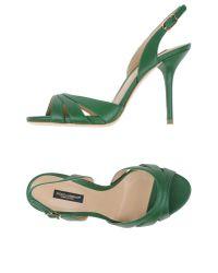 Dolce & Gabbana - Green Sandals - Lyst