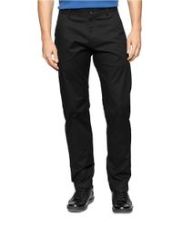 Calvin Klein | Black Calvary Twill Pants for Men | Lyst