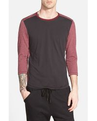 Howe | Red 'jack' Three Quarter Sleeve Baseball T-shirt for Men | Lyst