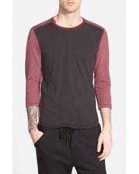 Howe - Red 'jack' Three Quarter Sleeve Baseball T-shirt for Men - Lyst