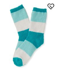 Live Love Dream | Blue Lld Fuzzy Colorblock Crew Socks | Lyst