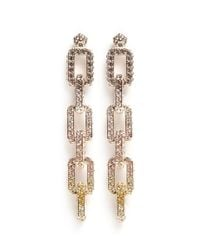 Eddie Borgo | Metallic Pavé Supra Link Earrings | Lyst
