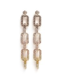Eddie Borgo - Metallic Pavé Supra Link Earrings - Lyst
