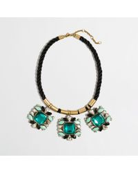 J.Crew - Green Factory Rope and Crystal Clusters Necklace - Lyst