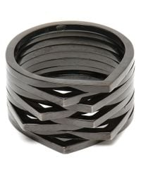 Repossi | Black 'antifer' Cataphoresis Ring | Lyst