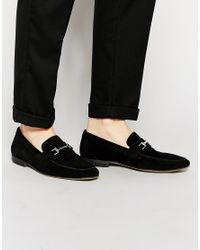 ASOS - Loafers In Black Suede With Snaffle - Lyst