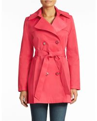 Via Spiga | Pink Double Breasted Scarpa Trench | Lyst