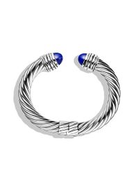 David Yurman | Metallic Cable Classics Bracelet with Lapis Lazuli | Lyst