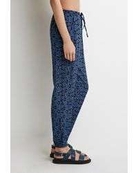 Forever 21 - Black Baroque Print Woven Joggers You've Been Added To The Waitlist - Lyst