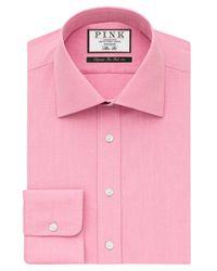 Thomas Pink - Pink Derick Plain Slim Fit Shirt for Men - Lyst